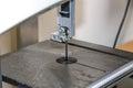 Electromechanical fret saw with Royalty Free Stock Photo