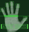 Electronic biometric fingerprint scanning Royalty Free Stock Photography