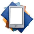 Electronic book isolated on a white background Royalty Free Stock Image