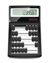 Electronic calculator abacus Royalty Free Stock Photos