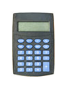 Electronic calculator taken closeup isolated white background Royalty Free Stock Photography