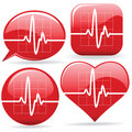 Electronic Cardiograms Royalty Free Stock Images