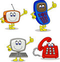 Electronic cartoon character Stock Images