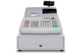 Cash Register isolated with clipping path Royalty Free Stock Photo