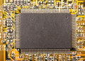 Electronic chip on circuit board Stock Photography