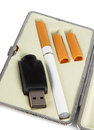 Electronic cigarette closeup in the box Stock Image
