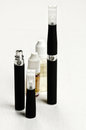 Electronic cigarette detail and components e cigarette business Royalty Free Stock Image