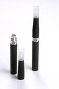Electronic cigarette e cigarette detail and components business Royalty Free Stock Image