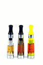 Electronic cigarette e isolated atomizer cartomizer Stock Photo