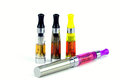 Electronic cigarette e isolated atomizer cartomizer Stock Image