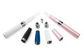 Electronic cigarette white background Stock Photos