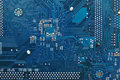 Electronic circuit board blue mother pattern background Royalty Free Stock Image