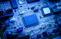 Electronic circuit board. Royalty Free Stock Photo