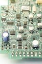 Electronic circuit board, PCB & x28;Printed circuit board& x29; with proce Royalty Free Stock Photo