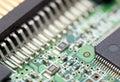 Electronic circuit fragment of the Stock Photos