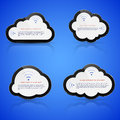 Electronic clouds vector illustration of abstract on blue background cloud computing concept Stock Photo