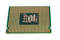 Electronic collection - Computer CPU Processor Chip isolated on Royalty Free Stock Photo