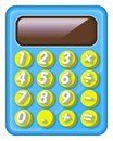 Electronic and colourful calculator for kids Royalty Free Stock Photo