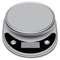 Electronic compact scale with high precision for industrial and domestic use vector illustration Royalty Free Stock Images