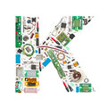 Electronic components letter Royalty Free Stock Photos