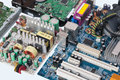 Electronic components on a printed circuit board Stock Photography