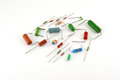 Electronic components - resistors Stock Photography