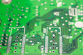 Electronic computer circuit board close up Stock Images
