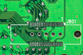 Electronic computer circuit board close up Royalty Free Stock Photos