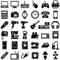 Electronic device and household icons