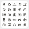 Electronic device icons set eps don t use transparency Royalty Free Stock Images