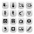 Electronic devices icons Royalty Free Stock Photo