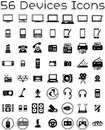Electronic devices icons vector set covering computers tablets laptops accessories ai vector file included Stock Photo