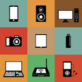 Electronic devices icons vector set of mobile Royalty Free Stock Photography