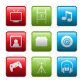 Electronic entertainment icons Stock Photography