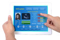 Electronic health record on tablet. Royalty Free Stock Photo