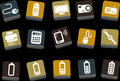 Electronic Icon Set Royalty Free Stock Photo