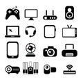 Electronic Icon Set Royalty Free Stock Photo