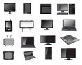 Electronic icon set of equipment and devices Royalty Free Stock Images