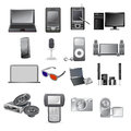 Electronic icon set of equipment and devices Royalty Free Stock Photos