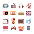 Electronic icons Royalty Free Stock Photo