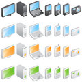 Electronic icons vector Royalty Free Stock Photos
