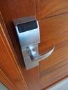 Electronic lock on door Royalty Free Stock Photo