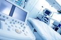 Electronic medical devices in a hospital ward Royalty Free Stock Images