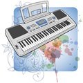 Electronic musical midi keyboard - synth Stock Photos