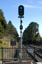 Electronic Railway Signal Stock Photography