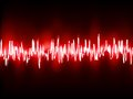 Electronic sine sound or audio waves eps vector file included Royalty Free Stock Photography