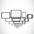 Electronic technology icons concept Royalty Free Stock Photo