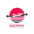 Electronic technology - vector business logo template for corporate identity. Abstract chip sign. Global network, internet tech. Royalty Free Stock Photo
