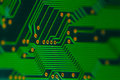 Electronics - back of a circuit board Stock Images