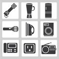 Electronics device icons house hold icons sign set of Royalty Free Stock Images